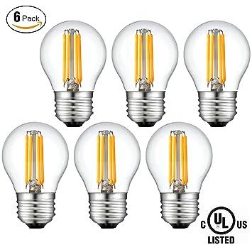Lámparas LED, Bulbo LED Globo 4W E14, 400lm, 2700K, Bombilla halógena 40W