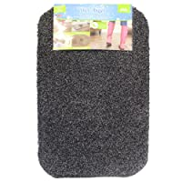 JVL Dirt Angel Machine Washable Barrier Door Mat, Fabric/Plastic, Slate, 50 x 75 cm