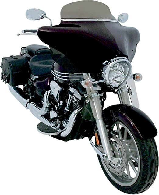 Bid4ze Motorrad Windschott Mit Montage Hardware Kit Für Harley Touring Street Glide Road King Electra Glide Honda Shadow 1100 Sabre Yamaha Xvs11a Universal Motorrad Auto