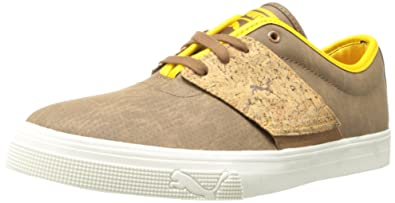 PUMA Men's EL Ace Leather Handcrafted Classic Sneaker,Dachshund/Spectra  Yellow,4 M