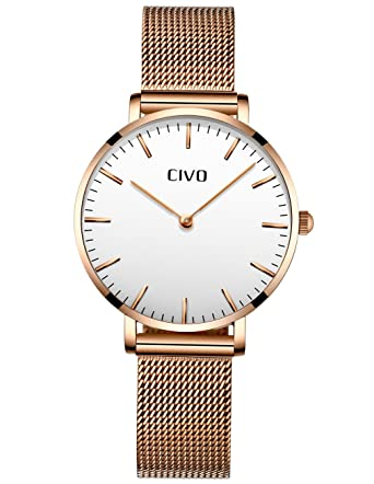 CIVO Relojes Mujer Ultra Fino Silm Minimalista Reloj de ...