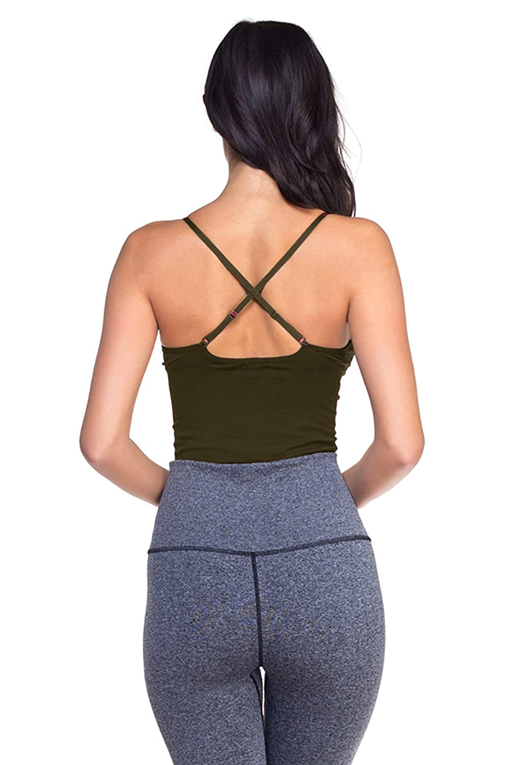 Yoga Athletic Workout Sports Bra TOP LEGGING TL Womens Active Seamless Crop Cami Bras