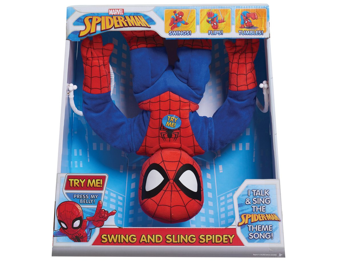 Just Play Marvel Swing & Sling Spiderman Plush by Just Play