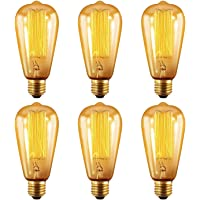 6-Pack Oak Leaf Edison 40W Incandescent Light Bulb