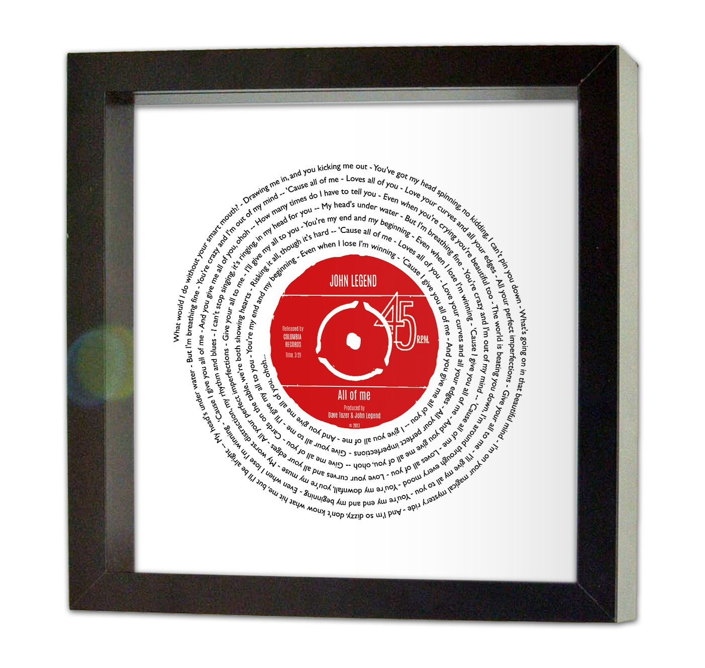 Amazon.de: John Legend, All of me | PERSONALISED SONG | Vinyl Record ...