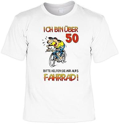 Grössen S-M-L-XL-XXL Ich bin über 50 bitte helfen Fun T-Shirt