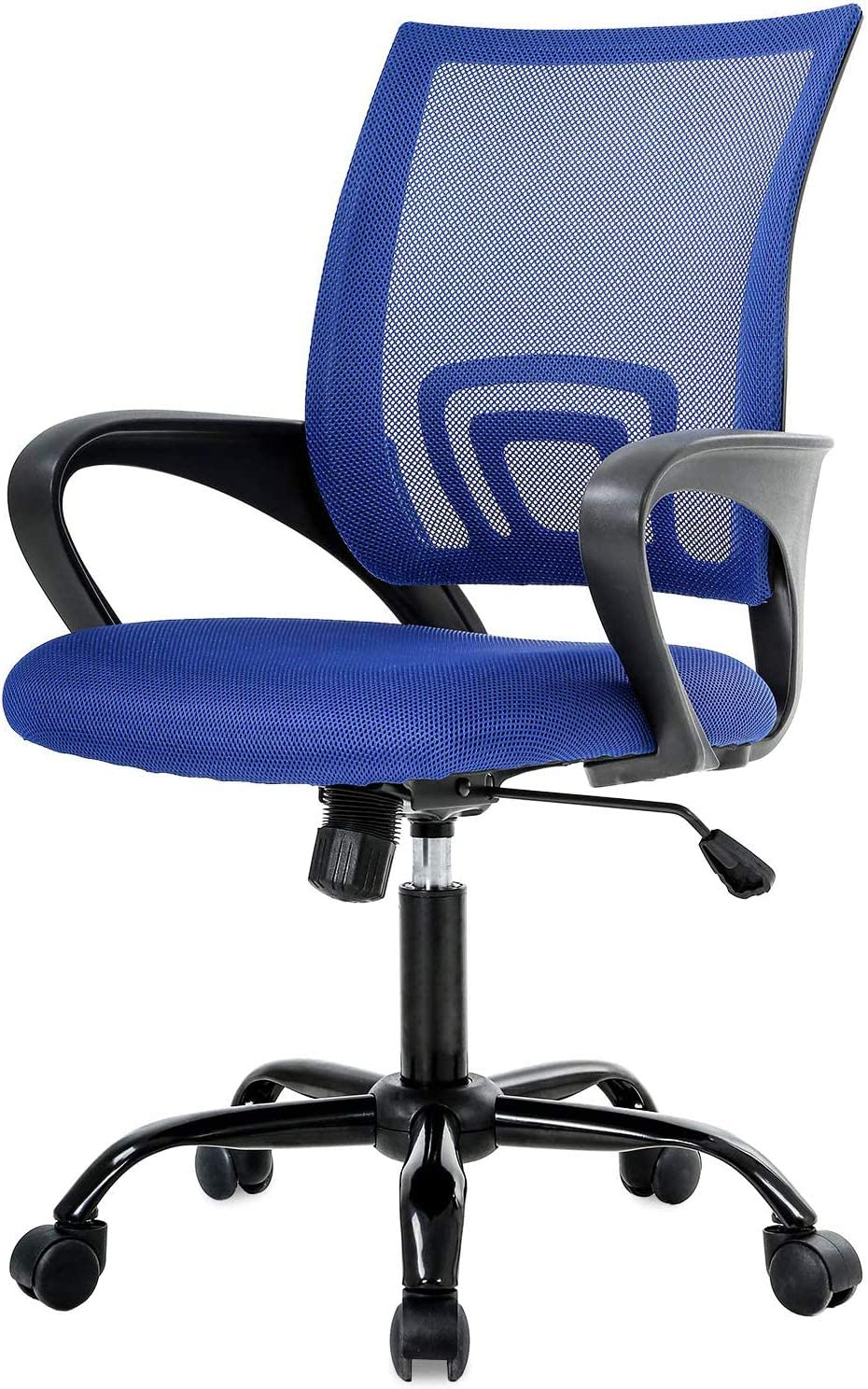 Simple Home Ergonomic Desk Office Chair Mesh Computer Chair, Lumbar Support Modern Executive Adjustable Stool Rolling Swivel Chair for Back Pain, Chic Modern Best Home Computer Office Chair - Blue
