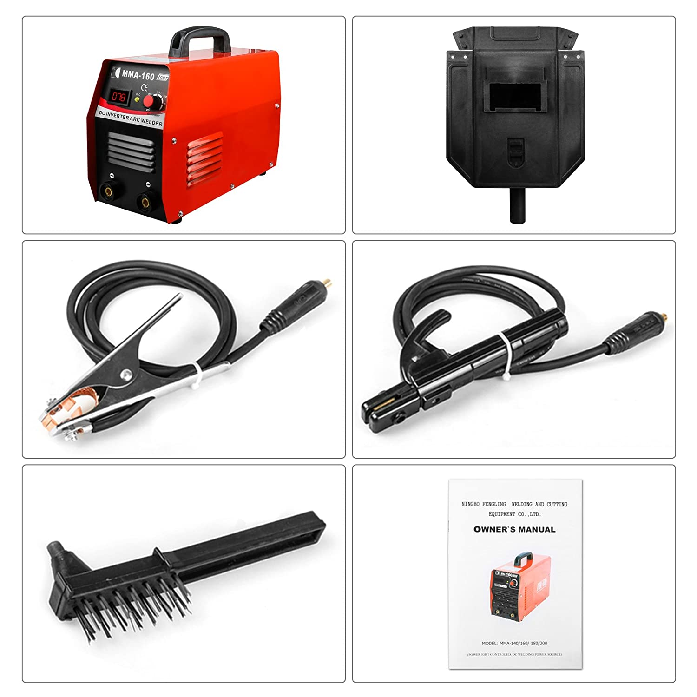 MRCARTOOL Inverter Welder IGBT Mini Arc Welding Machine MMA 160 20-160A With Face Shield Welding Rod Holder Copper Cable (220V) EU Socket - - Amazon.com