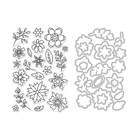 Hero Arts - Troquel con sellos y marcos transparentes, diseño de ...