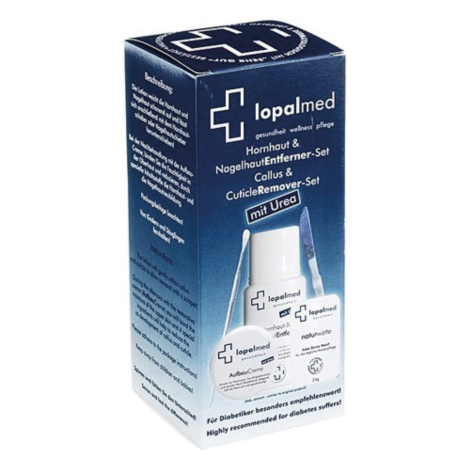 Hard Skin Remover and cuticle smoother - Lopalmed Kit smooths out every cuticle or hard skin on feet (also cracked) Lopal e.K