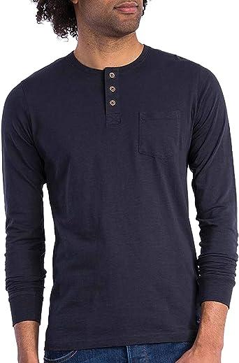 Tiffosi – Camiseta Navy Luis para Hombre con Cuello de Botones: Amazon.es: Ropa y accesorios