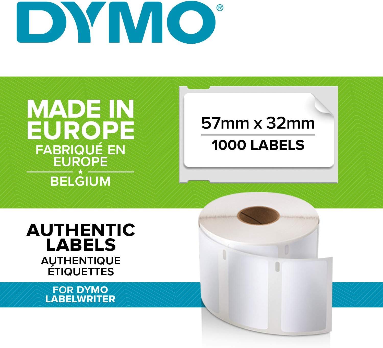 220 BESCHRIFTUNGS ETIKETTEN WEIß 19x51mm für DYMO Labelwriter 11355
