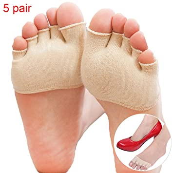 d647c4567773ab Amazon.com  Wecando 5 Pairs Fore Foot Cushion Sole Protectors Covers ...