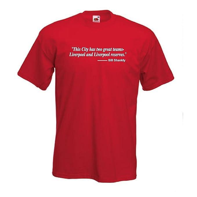 Liverpool FC Bill Shankly Dos Equipos Frase Club De Fútbol camiseta - S a 5XL - Rojo, Rojo, Medium: Amazon.es: Ropa y accesorios