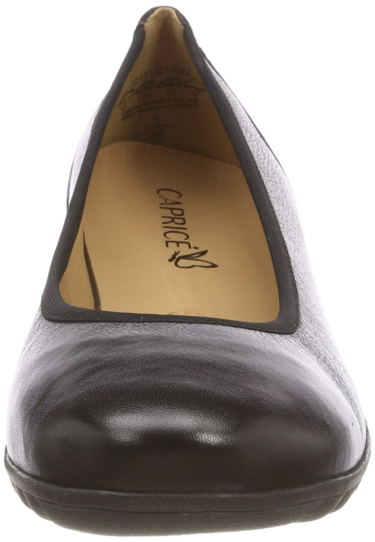 CAPRICE Damen 22151 Geschlossene Nappa Ballerinas Schwarz (schwarz Nappa Geschlossene 22) 8beafc