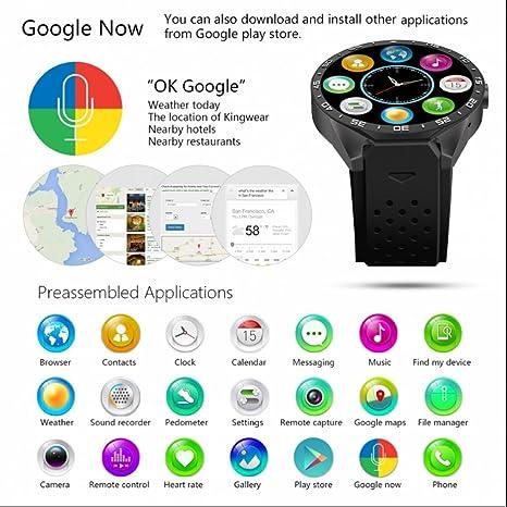Teléfono inteligente reloj de pulsera Smart Watch Reloj Wifi GPS Smart Pulsera con Cámara de seguridad y de tarjetas SIM apoyo podómetro/Medidor de ...