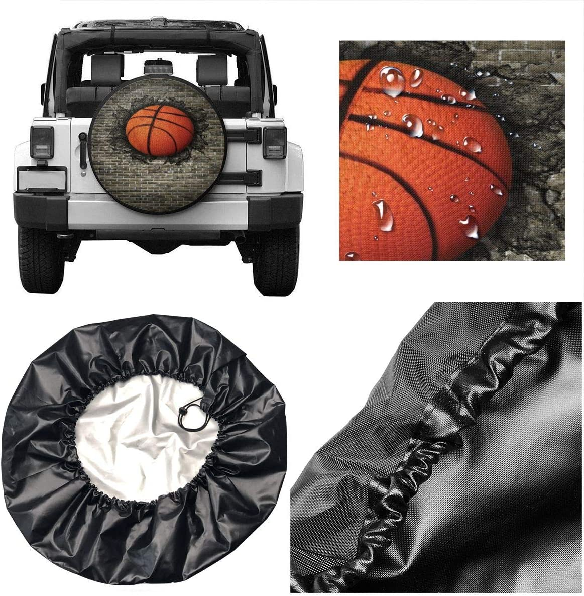 Trailer SUV Truck and Many Vehicle 17 Inch for Diameter 31-33 Delerain HorseSpare Tire Covers Waterproof Dust-Proof Spare Wheel Cover Universal Fit for Jeep RV