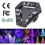 Lixada DMX512 LED fase luce Gobo modello lampada controllo audio automatico rotante 1/12/14/18/50 canali colore cambiando il fascio Triangolo LED 140W