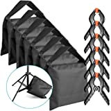 Neewer 6-Pack Heavy Duty Sandbag (Black) for Photo Studio Light Stands Boom Arms with 6-Pack Muslin Backdrop Spring Clamps Clips (Empty Sandbag)