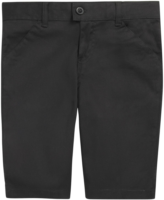 French Toast School Uniform Girls Bermuda Shorts, Black, 6