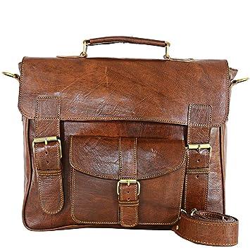 61556c68eb1e Amazon.com  Jakani Cuir C25  Briefcase Laptop Bag Best Computer - Handmade  Leather Messenger Bags For Men Women Mens  AKY DREAM