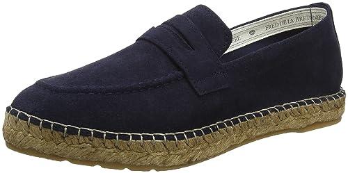 Fred de la Bretoniere Loafer/Slipper, Alpargatas para Mujer, Azul (Dark Blue 8011), 41 EU