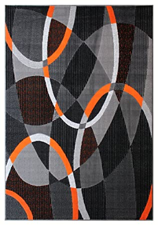 Masada Teppiche Modernes Bereich Teppich Blau Grau Schwarz Weiss