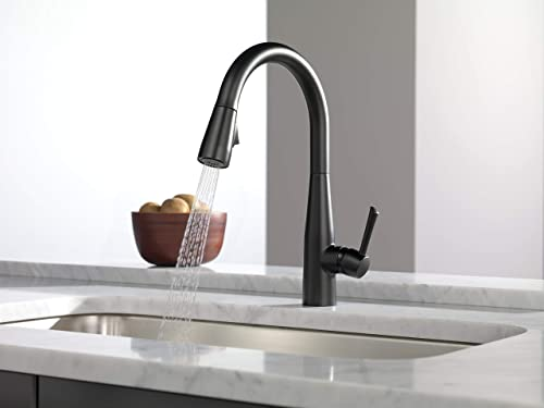 Delta Faucet Essa Black Kitchen Faucet with Pull Down Sprayer, Kitchen Sink Faucet, Faucets for Kitchen Sinks