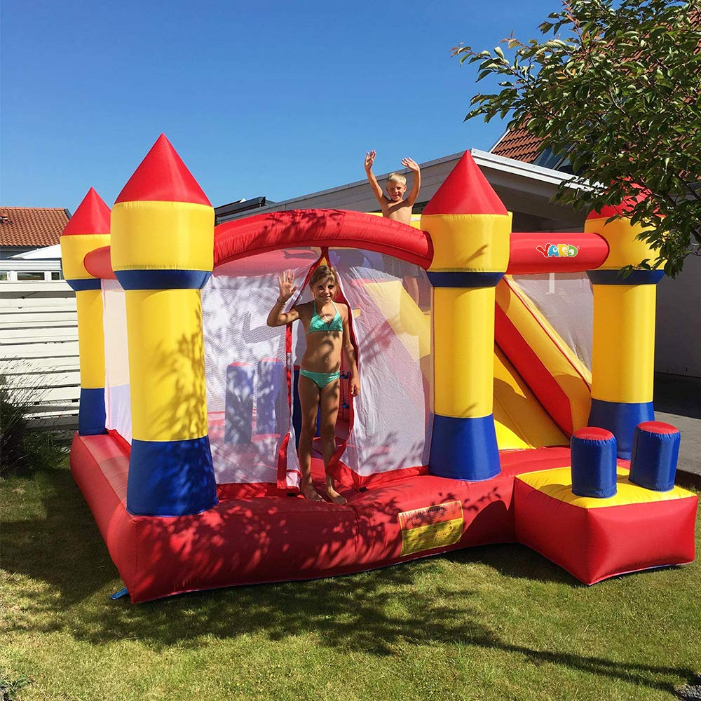 YARD Bounce House with Slide Obstacle Children Outdoor Jump Castle with Blower (13.1' x 12.5' x 8.2') by YARD (Image #2)