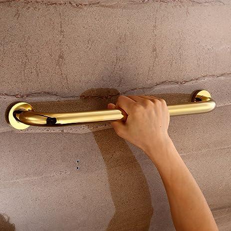 Amazon.com: YUTU JFS02 Bathroom Shower Antique Brass Safety Grab Bar ...