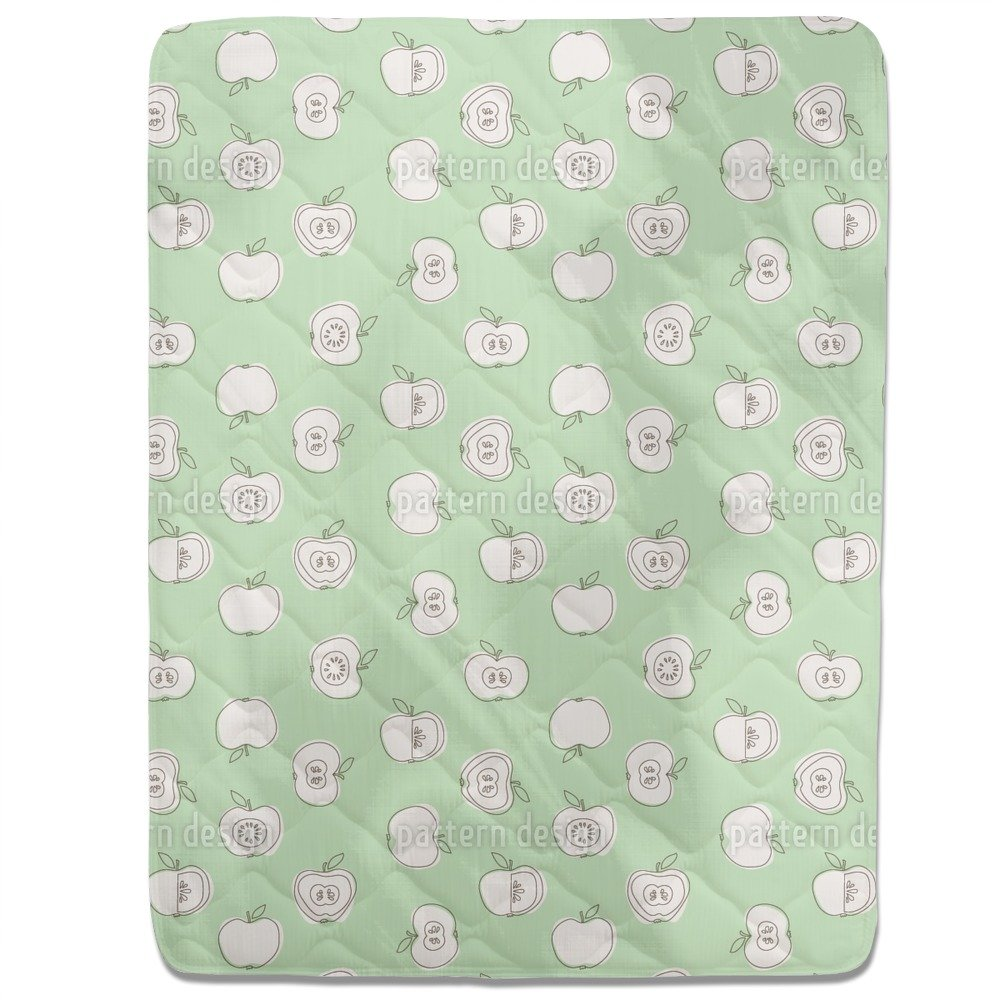 Apple For School Fitted Sheet: King Luxury Microfiber, Soft, Breathable