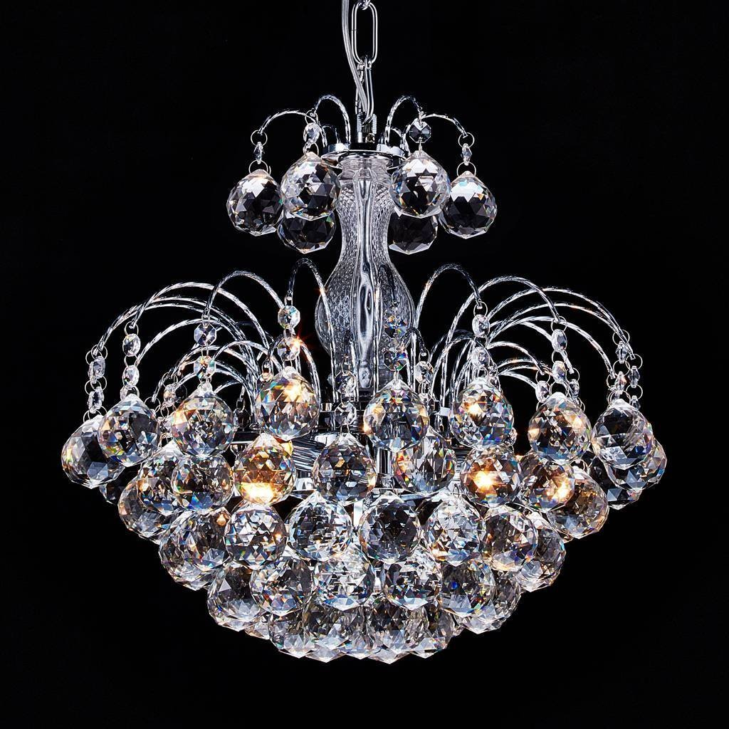 Saint Mossi Modern K9 Crystal Raindrop Chandelier Lighting Flush mount LED Ceiling Light Fixture Pendant Lamp for Dining Room Bathroom Bedroom Livingroom Height 38 cm Width 38 cm Saint Home