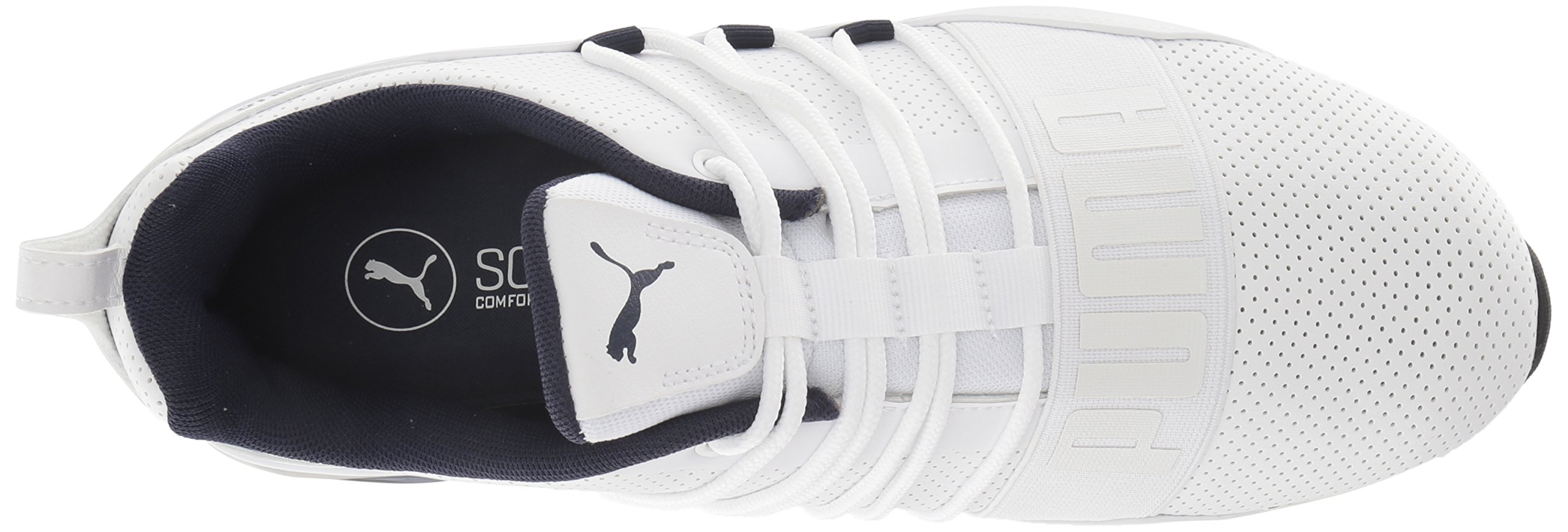 PUMA Men's Cell Regulate SL Sneaker, White Black-Peacoat Silver, 7 M US by PUMA (Image #7)