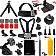 Luxebell Accessories Kit for AKASO EK5000 EK7000 4K WiFi Action Camera Gopro Hero 7 6 5/Session 5/Hero 4/3+/3/2/1 Fusion (14 Items)