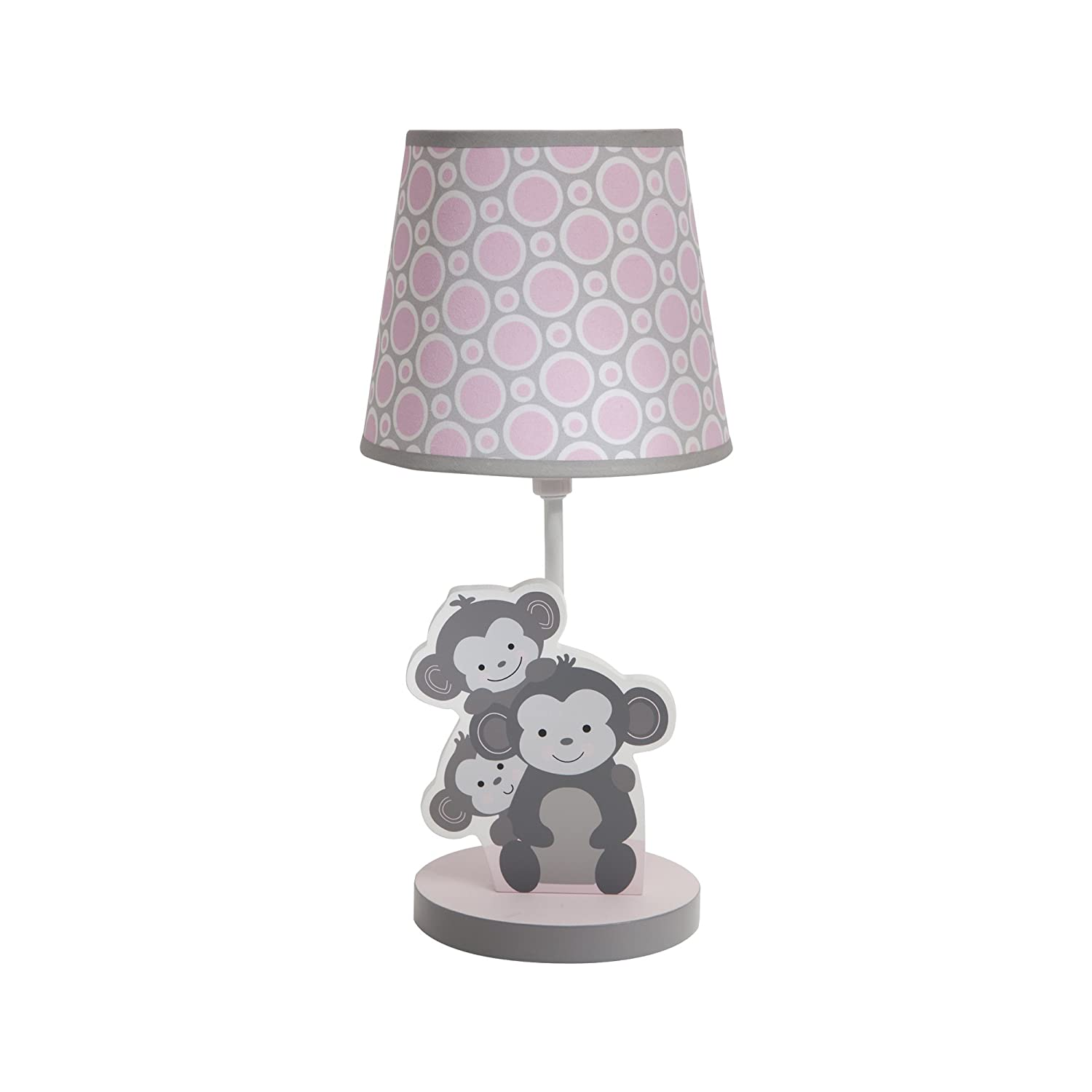 Bedtime Originals Lamp with Shade and Bulb, Pinkie 221024B