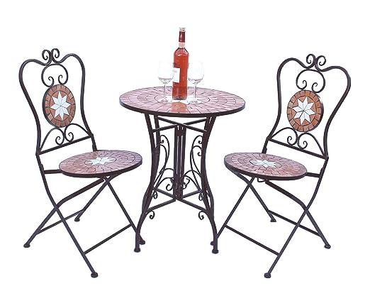 Merano 12001-2 - Juego de mesa y sillas de jardín: Amazon.es: Jardín