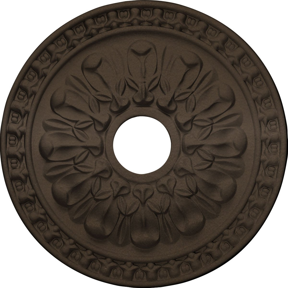 Ekena Millwork CM18WABZS Warsaw Ceiling Medallion, Bronze