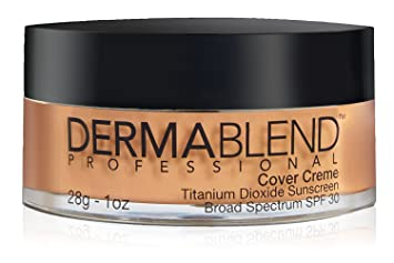 18dbb32d23ff3 Dermablend Cover Creme High Coverage Foundation with SPF 30, 50C Honey  Beige, 1 Oz