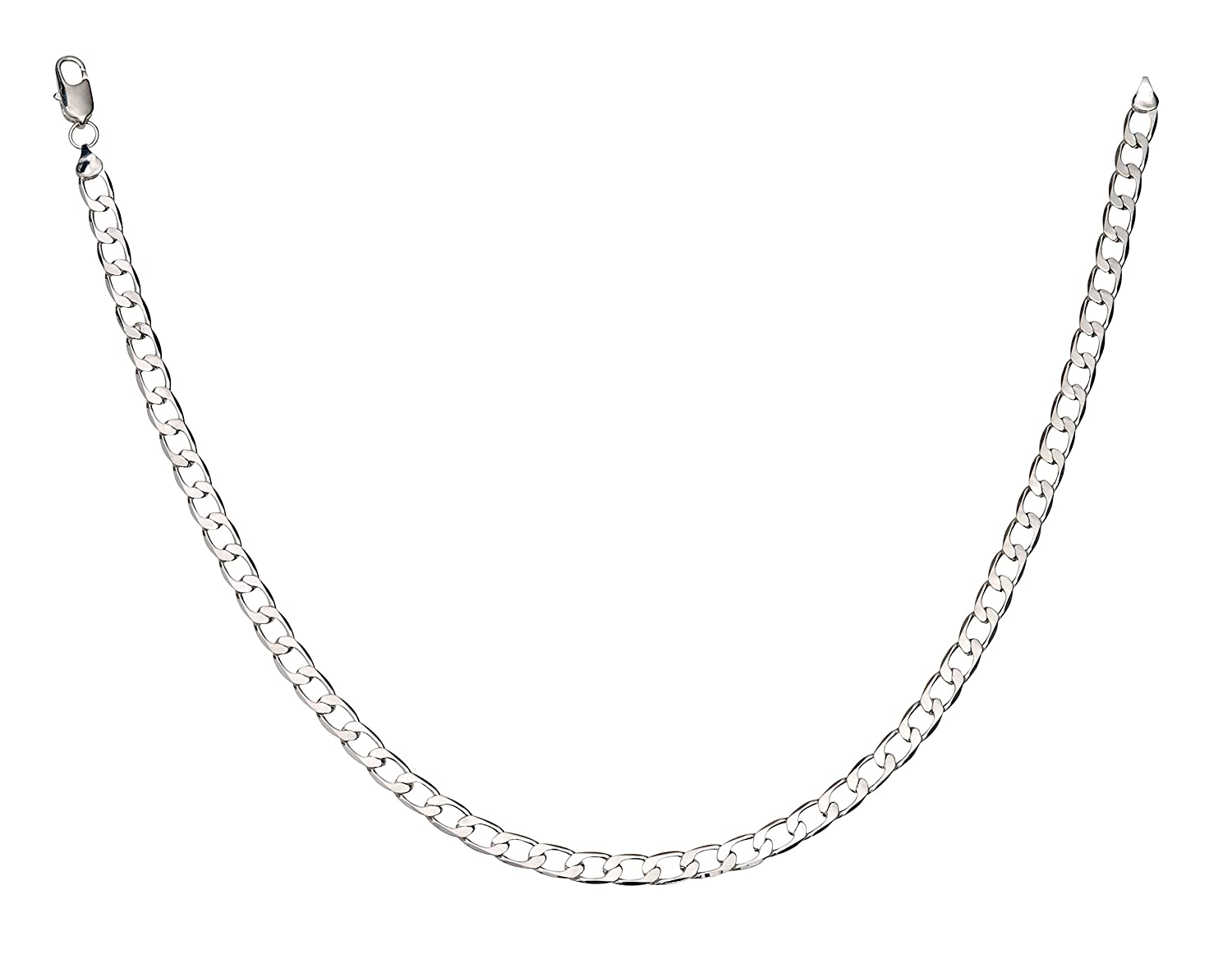 4a4d2407871aa6 Silvadore - Mens Silver Curb Chain Necklace - 20'' (51cm) 36G 8mm Solid  Flat Thick Heavy Strong - 925 Sterling Silver Plated - Free Gift Boxed -  GUARANTEED ...