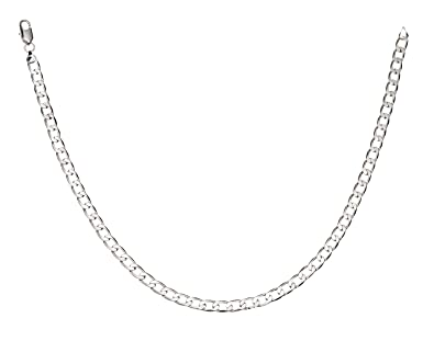 itm necklace chunky curb inch mens new chain is solid image sterling s men loading silver