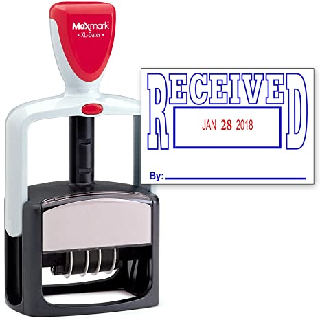 Amazon 2000 Plus Heavy Duty Style 2 Color Date Stamp With