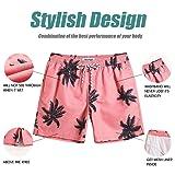 MaaMgic Mens Palm Tree Swim Trunks Bathing Suits