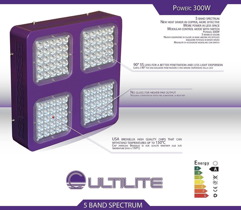 LED 300W Cultilite-Lampe Wachstum Blüte Agro Neue Generation NEU NEW (Grow + Bloom–Wachstum + Blüte)