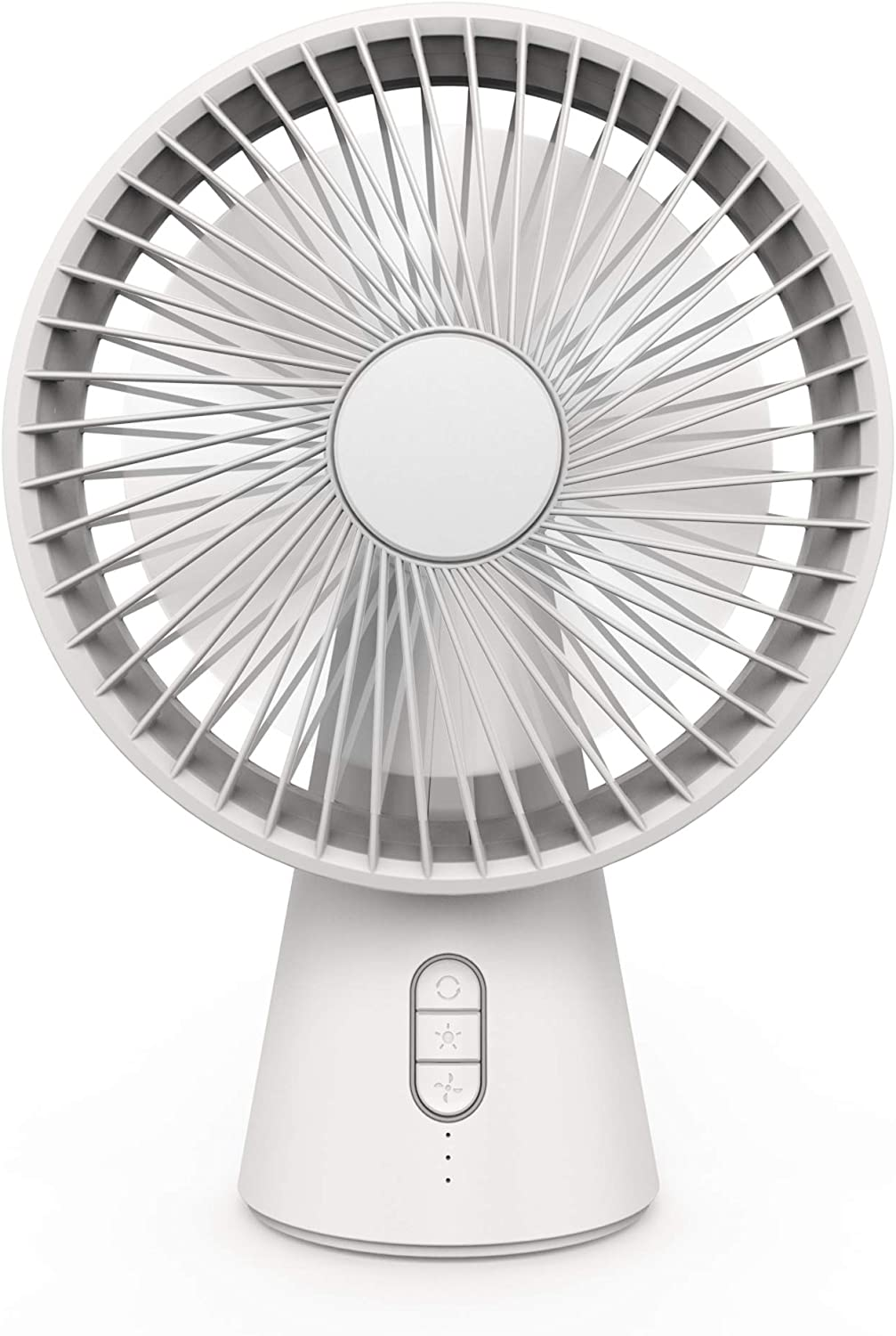 Desk Fan with LED Lamp Ultra Silent USB Fan Rechargeable Personal Fan Portable Fan 4 Modes Lightweight Strong Wind Quiet Table Fan with Handle for Travel Office Room Household
