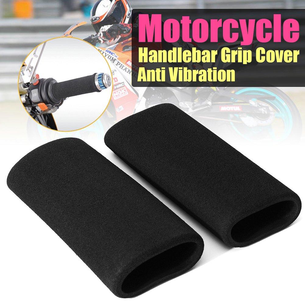 Beimaji Trade 1 Pair Of Motorbike Handlebar Grip Cover Motorcycle Slip-on Foam Anti Vibration Comfort Hand Grip Cove