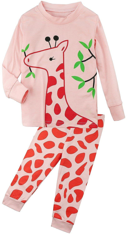 FANCYINN Little Kids Pajamas 2 Pcs Set Pjs Cotton Pink e_WS_7013_G_160_us