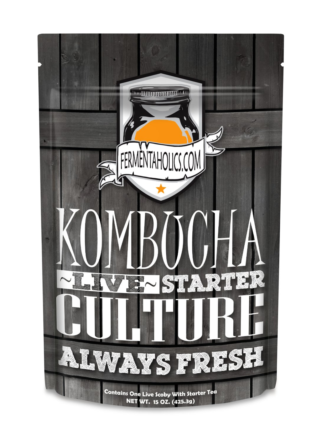 Fermentaholics Kombucha SCOBY (starter culture) + 1-Gallon Glass Fermenting Jar with Breathable Cover + Rubber Band + Adhesive Thermometer - Brew kombucha at Home - Detailed Instructions Included by Fermentaholics (Image #2)