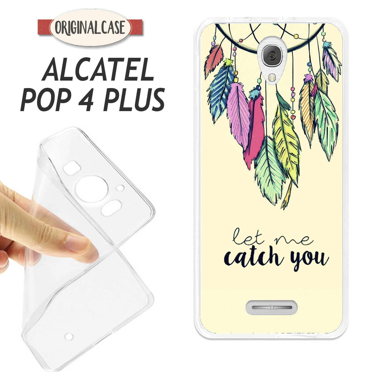 K190 FUNDA CARCASA ALCATEL POP 4 PLUS BLANDA GEL TPU ...