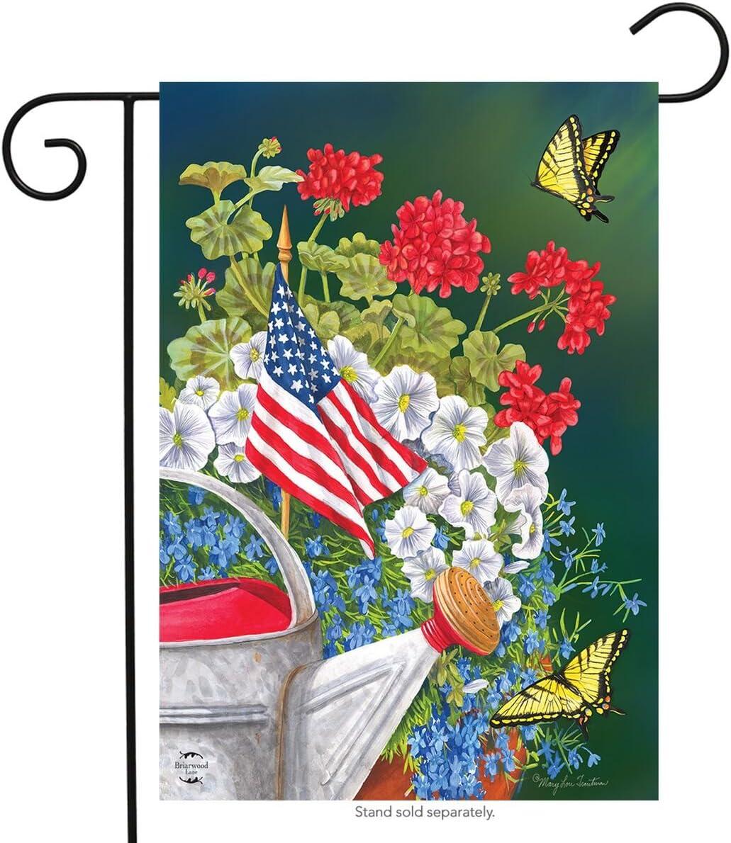 Briarwood Lane American Garden Summer Garden Flag Patriotic Floral 12.5