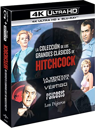 Pack Alfred Hitchcock Classics Collection 4 Películas Psicosis ...